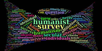 happy humanist word cloud